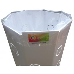i3-Max Substrate-Bag transparent 80 lt empty